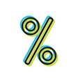percentage discount or sale flat icon object vector image
