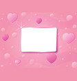 pink love card vector image