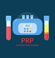 prp laboratory equipment kit vector image vector image