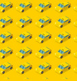 public taxi car seamless pattern cab on yellow vector image