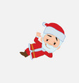 santa claus lying greets with a dreamy expression vector image vector image