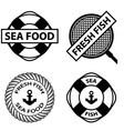 sea food stamps vector image vector image