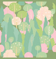 seamless blossom forest pattern spring vector image
