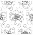 seamless pattern with rose and circles on white vector image