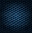 seamless volumetric dark blue pattern with vector image