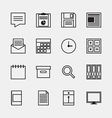 Set of business office work icons vector image