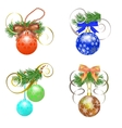 Set of Christmas ball vector image vector image