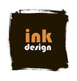 spot ink grunge square banner vector image vector image