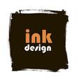 spot ink grunge square banner vector image vector image