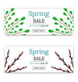 spring sale discount flyer or brochure vector image
