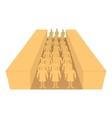 Terracotta army icon cartoon style vector image vector image