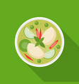 thai food chicken with green curry vector image vector image
