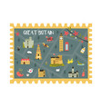 united kingdom postal card with landmarks symbols vector image vector image