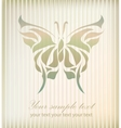 Vintage beautiful butterfly vector image vector image