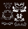 vintage frames and scroll elements5 vector image vector image