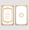 vintage frames with gold border pattern vector image