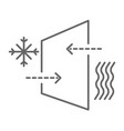 window glass schematic structure explanation of vector image