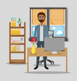 worker at office vector image