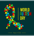 world autism day vector image vector image