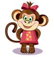 monkey hero vector image