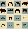 Collection of hipster retro hair styles and vector image