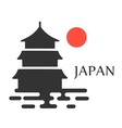 Asian Pagoda Tower icon isolated vector image