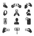 Selfie photo icons set vector image
