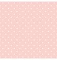 Seamless pattern white polka dots pink background