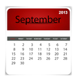 2013 calendar september vector | Price: 1 Credit (USD $1)