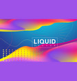 3d geometric abstract background with iridescent vector image