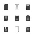 a set of icons of forms documents forms a vector image vector image