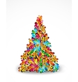 Abstract Tree Christmas background vector image vector image