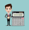 accountant with a calculator vector image vector image