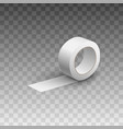 adhesive sticky white tape or scotch roll vector image vector image