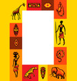african ethnic background people animals