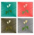 assembly flat shading style flower calla vector image vector image
