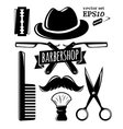 Barbershop accessory set vector image