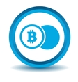 Bitcoin coin icon blue 3D vector image vector image
