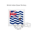 British Indian Ocean Territory Flag Postage Stamp vector image vector image