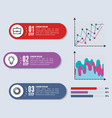 business infographic template icons vector image