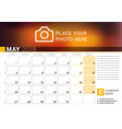 calendar for may 2019 design print template with vector image vector image