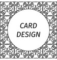 card design with filigree linear art vector image vector image
