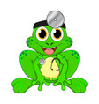 cartoon frog doctor isolated on white background vector image
