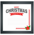 chrismtas invitation card vector image