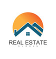 circle roof real estate logo vector image vector image