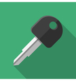 Colorful car key icon in modern flat style with vector image vector image