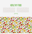 concept organic food contains seamless pattern vector image