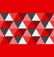 concept patchwork xmas design vector image