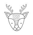 cute christmas reindeer head character vector image vector image
