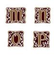 decoration letter m n o p logo design concept vector image vector image